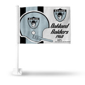 Oakland Raiders RETRO LOGO HELMET Car Flag
