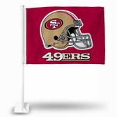 San Francisco 49ers Car Flag HELMET