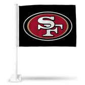 San Francisco 49ers LOGO ON BLACK Car Flag