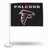 Atlanta Falcons BLACK BACKGROUND CAR FLG