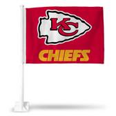 Kansas City Chiefs ARROWHEAD/WORDMARK RED CAR FLG
