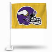 Minnesota Vikings YELLOW Car Flag HELMET
