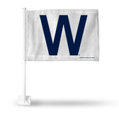 Chicago Cubs W Car Flag (WHITE BACKGROUND)