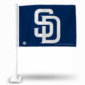 "San Diego Padres ""WHITE SD"" BLUE Car Flag"