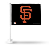 San Francisco Giants SF LOGO BLACK Car Flag