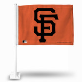 San Francisco Giants SF LOGO ORANGE BKG Car Flag