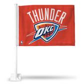 Oklahoma City Thunder ORANGE Car Flag