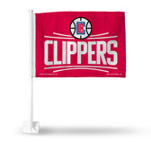 Los Angeles Clippers RED BACKGROUND Car Flag 2015