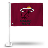 Miami Heat Car Flag (RED BACKGROUND)