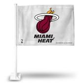 Miami Heat Car Flag (WHITE BACKGROUND)