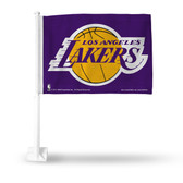 Los Angeles Lakers PURPLE Car Flag