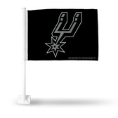 San Antonio Spurs Car Flag WITH PRIMARY LOGO- SECONDARY DESIGN