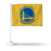 Golden State Warriors Car Flag - YELLOW