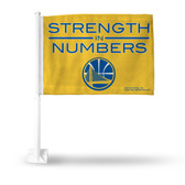 Golden State Warriors STRENGTH IN NUMBERS YELLOW Car Flag
