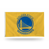 Golden State Warriors Banner Flag - YELLOW BACKGROUND