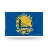 Golden State Warriors Banner Flag - BLUE BACKGROUND