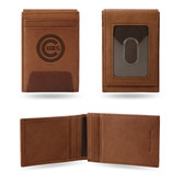 Chicago Cubs Premium Leather Front Pocket Wallet