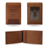 Chicago Bulls Premium Leather Front Pocket Wallet