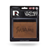 Miami Marlins Leather Trifold Wallet