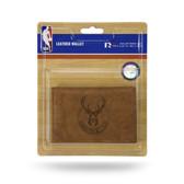 Milwaukee Bucks Leather Trifold Wallet