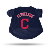 Cleveland Indians NAVY PET T-SHIRT - SMALL