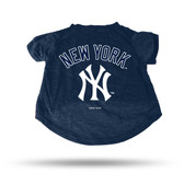 New York Yankees NAVY PET T-SHIRT - LARGE