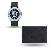 Detroit Tigers MENS Black Watch and Wallet