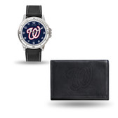 Washington Nationals MENS Black Watch and Wallet