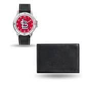 St. Louis Cardinals MENS Black Watch and Wallet