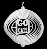 Arizona Wildcats Mini Swirly Metal Wind Spinner
