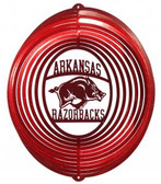 Arkansas Razorbacks Circle Swirly Metal Wind Spinner