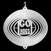 Arkansas Razorbacks Mini Swirly Metal Wind Spinner
