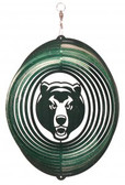 Baylor Bears Circle Swirly Metal Wind Spinner