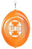 Illinois Fighting Illini Circle Swirly Metal Wind Spinner