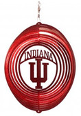 Indiana Hoosiers Circle Swirly Metal Wind Spinner