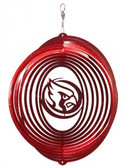 Iowa State Cyclones CYCLONES Circle Swirly Metal Wind Spinner