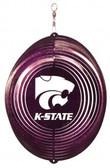 Kansas State Wildcats Circle Swirly Metal Wind Spinner