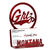 Montana Grizzlies Business Card Holder