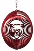 Montana Grizzlies Circle Swirly Metal Wind Spinner