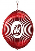 MSUM Dragons Circle Swirly Metal Wind Spinner