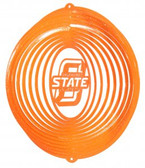Oklahoma State Cowboys Circle Swirly Metal Wind Spinner