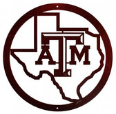 Texas A&M Aggies  24 Inch Scenic Art Wall Design