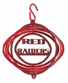 Texas Tech Red Raiders Tini Swirly Metal Wind Spinner