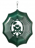 Frog Web Green Wind Spinner