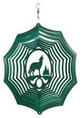 Wolf Web Green Wind Spinner