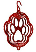 Dog Paw Tini Red Wind Spinner