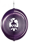 End of Trail Circle Purple Wind Spinner