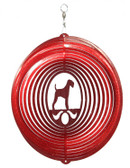 Airedale Circle Red Wind Spinner