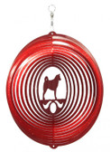 Akita Circle Red Wind Spinner