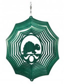 Turtle Web Green Wind Spinner